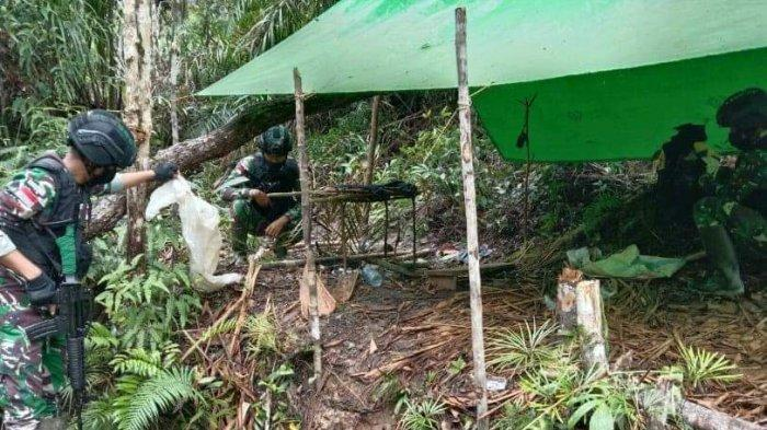Lagi, Satgas Pamtas Yonif 407/PK Temukan Kayu Hasil Pembalakan Liar di Hutan Nanga Seran