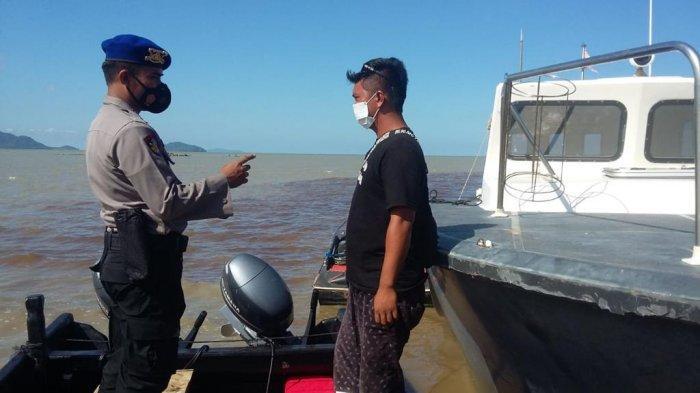 Personel Sat Polair Polres Bengkayang Ajak Masyarakat Patuhi Prokes