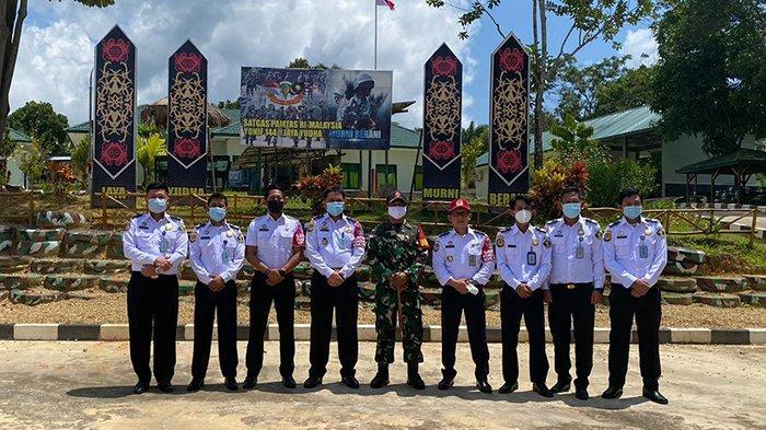 Kanim Kelas II TPI Sanggau Lakukan Koordinasi Bersama Satgas Pamtas di Kotis Badau