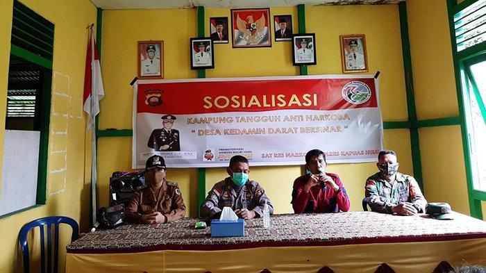 Polres Kapuas Hulu Bentuk Kampung Tangguh Narkoba di Desa Kedamin Darat Putussibau Selatan