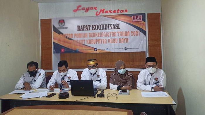 Rakor Daftar Pemilih Berkelanjutan Triwulan II 2021, KPU Kubu Raya Tetapkan Daftar Pemilih Terbaru