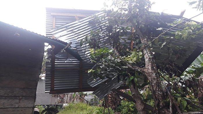 Angin Kencang Landa Dusun Bahta Kecamatan Bonti, Sejumlah Rumah Warga Rusak