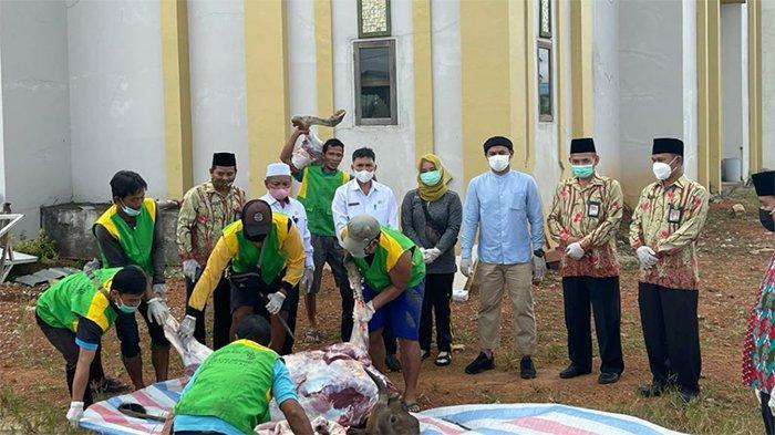 Wahyudi Hidayat Hadir Langsung Penyembelihan Hewan Kurban di Masjid Agung Darunnajah Putussibau