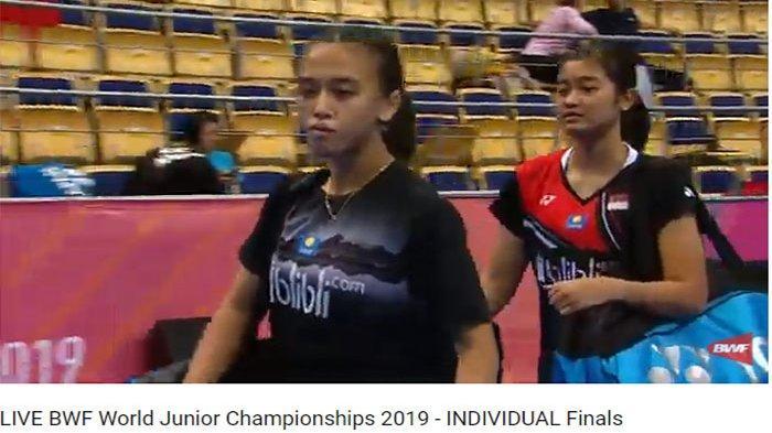 Sedang Berlangsung, Streaming Final Kejuaraan Dunia Junior 2019 - Febriana/Amalia, Lalu Leo/Daniel