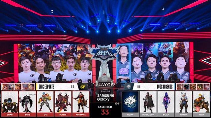 SEDANG LIVE EVOS Legends Vs ONIC eSports Bracket Playoffs MPL Season 6, Calon Lawan RRQ