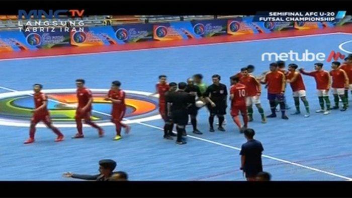 Sedang Live! Timnas Indonesia Vs Afghanistan Semifinal Futsal Piala Asia U20