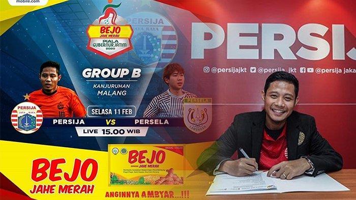 SEDANG Live MNCTV Persija Vs Persela Lamongan Piala Gubernur Jatim, Aksi Evan Dimas Jelang Liga 1