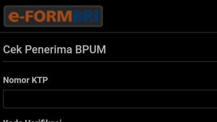 LINK Eform BRI Cek Cepat Nama Penerima BLT UMKM Rp2,4 Juta Login eform.bri.co.id/bpum