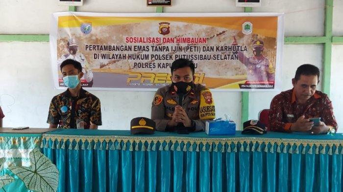 Polsek Putussibau Selatan Sosialisasikan Larangan PETI kepada Masyarakat