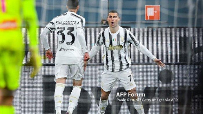 UPDATE Hasil Cagliari vs Juventus - Baru 10 Menit, Cristiano Ronaldo Cetak Gol Indah, Skor 0-1