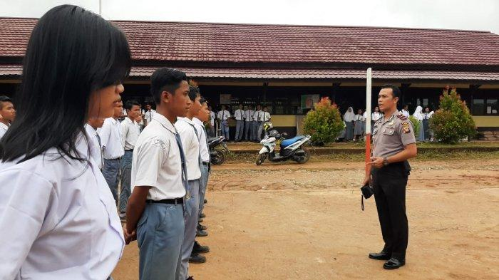 Polsek Meranti Seleksi Peserta Paskibra Tingkat Kecamatan