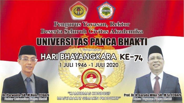 Seluruh Civitas Akademika UPB Pontianak Ucapkan Selamat Hari Bhayangkara ke-74