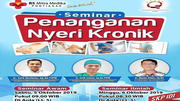 Yuk Ikuti Seminar Penanganan Nyeri Kronik yang Digelar Rumah Sakit Mitra Medika, Gratisss