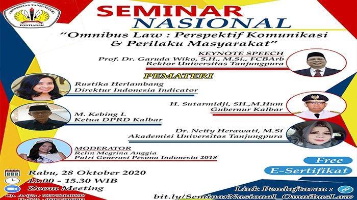 Sikapi Dinamika UU Omnibus Law, Untan Pontianak Gelar Seminar Nasional Terbuka untuk Umum