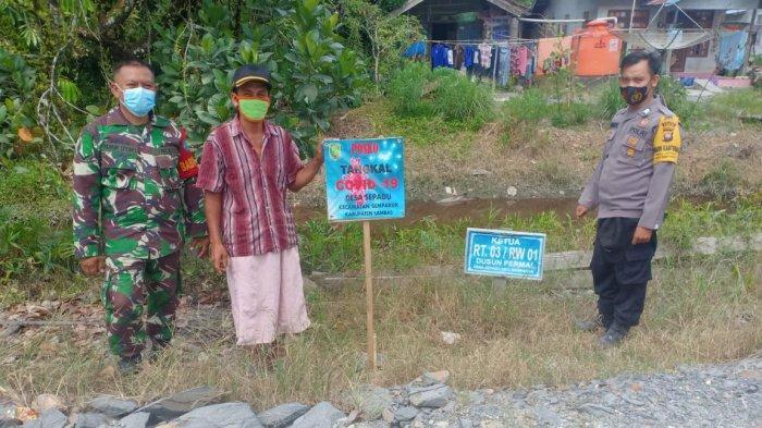 Cegah Penyebaran Covid-19, Bhabinkamtibmas Desa Sepadu Imbau Warga Patuhi Prokes