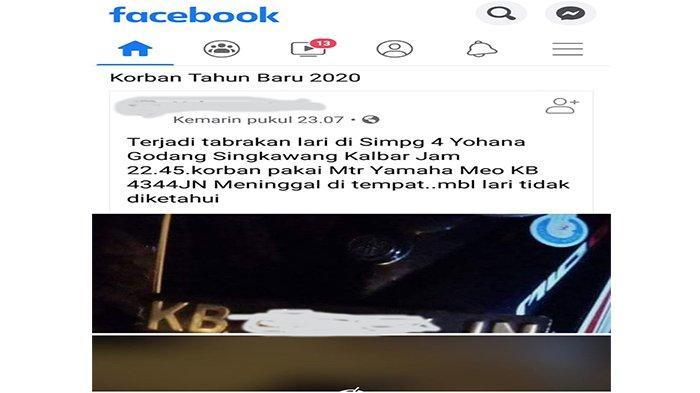 Sempat Beredar Tabrak Lari dan Timbulkan Korban Jiwa di Kota Singkawang, Berikut Klarifikasi Polres