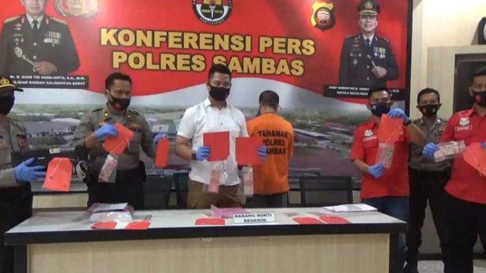 Cetak dan Edarkan Uang Palsu, Oknum Perangkat Desa di Kabupaten Sambas Diringkus Polisi