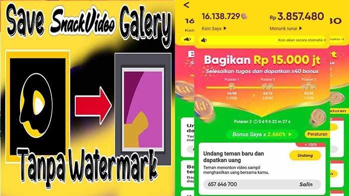 Download Video Snack Video Tanpa Watermark dan Panduan Cepat Dapatkan Uang dari Snack Video Resmi