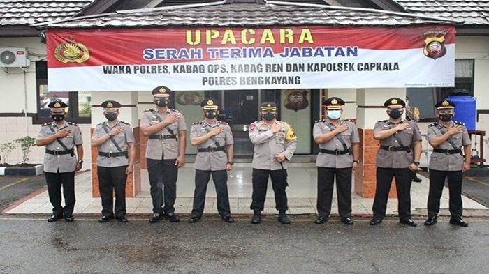Kapolres Darma Pimpin Sertijab Sejumlah Perwira di Lingkungan Polres Bengkayang