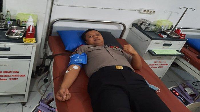 Meski Dalam Masa Pendidikan Sespimen Polri, Kompol Wahyu Sempatkan Diri untuk Mendonorkan Darah