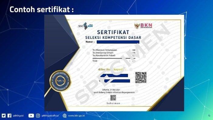 Cara Unduh Sertifikat Hasil SKD CPNS dan PPPK 2021 di https://sertificat.bkn.go.id