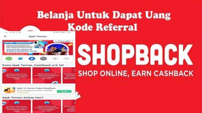 Cara Dapat Cashback Rp 1 Juta dari Misi Extra Ajak Teman di ShopBack Belanja Online Menguntungkan