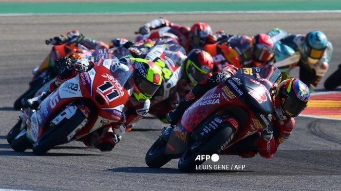 SIARAN Ulang MotoGP Aragon 2021 di Tv Online Trans7 Live, Aksi Dennis Foggia Rajai Kelas Moto3
