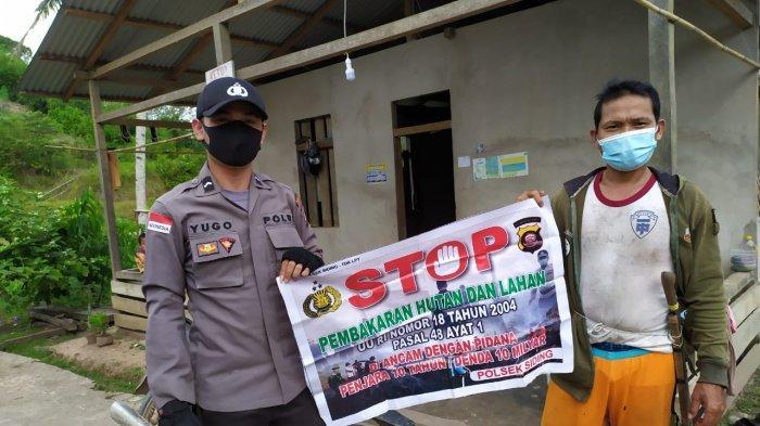 Polsek Siding Beri Edukasi Kepada Warga Terkait Bahaya Karhutla