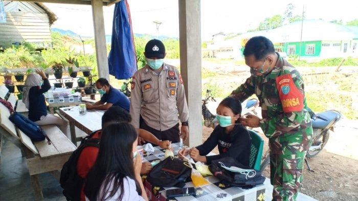 Cegah Penyebaran Covid-19, Kompaknya TNI-Polri Disiplinkan Prokes Covid-19