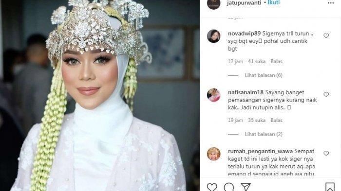 Hijab Stylist Lesti Angkat Bicara, Siger Sunda Lesti Saat Nikah Dinilai Terlalu Turun