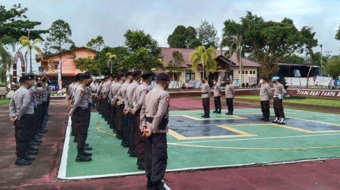 Lepas Personel BKO Pengamanan Pilkades, Ini Pesan Tegas Kapolres Melawi Sigit Kepada Personel
