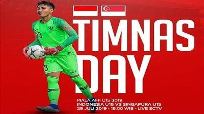LAPORAN LANGSUNG Timnas Indonesia Vs Singapura di Piala AFF U-15, Marselino Bawa Timnas Unggul 1-0