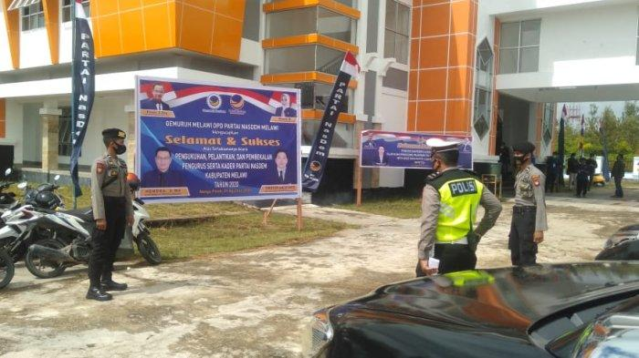 Polres Melawi Ploting Personel Amankan Pengumuman Pendaftaran Paslon Bupati dan Wakil Bupati Melawi