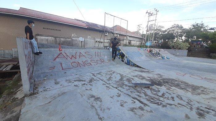 Tembok Skate Park Jebol, Anak Komunitas Sintang Skatebording Harap Perbaikan