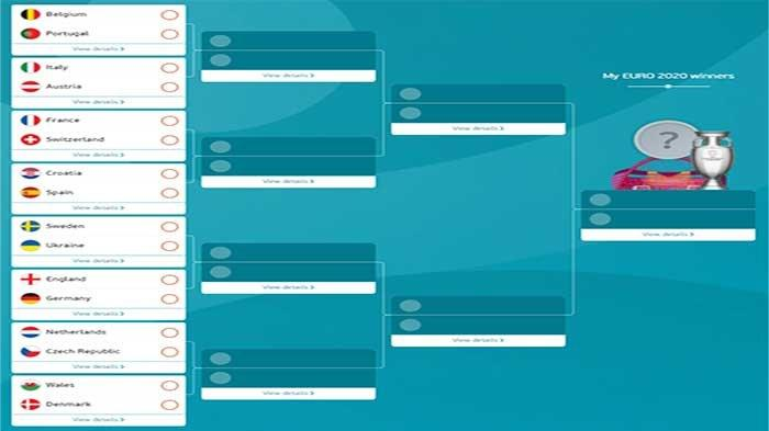 Skema 16 Besar EURO Lengkap Jadwal Piala Eropa 2021 Live RCTI & MolaTV, Prediksi Hasil Pertandingan