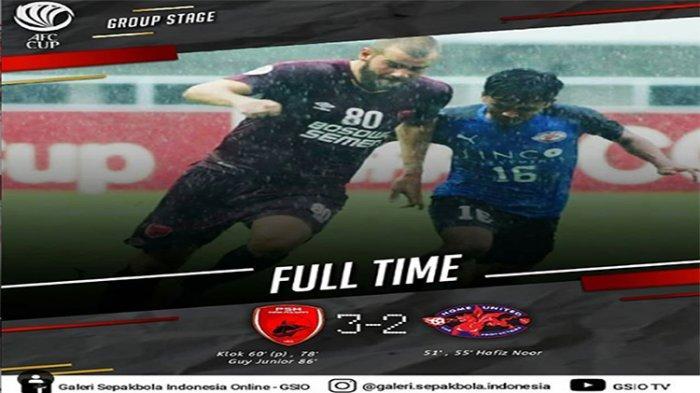 SKOR AKHIR PSM Makassar Vs Home United - Comeback Indah Juku Eja, 5 Gol Tercipta di Babak Kedua