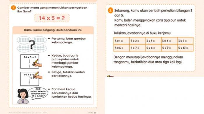 Soal numerasi 3 Kelas 2 SD.