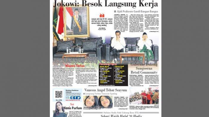 Ajak Prabowo-Sandi Bangun Bangsa, Jokowi: Jangan Ada Lagi 01-02
