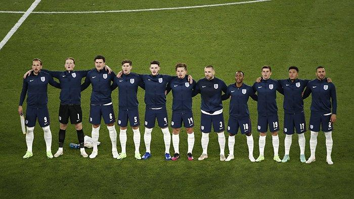 STARTING XI Inggris pada perempat final UEFA EURO 2020 menghadapi Ukraina, di Stadion Olimpico Roma, Sabtu 3 Juli 2021.