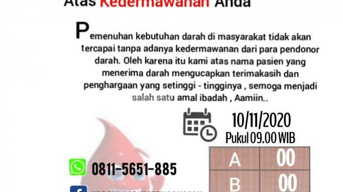 Stok Darah di UDD PMI Sanggau Kosong, Ini Imbauan Urbanus