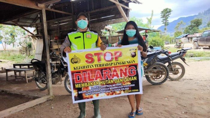 Stop Bakar Lahan, Kapolsek Siding: Pencegahan Karhutla Menjadi Tanggung Jawab Bersama