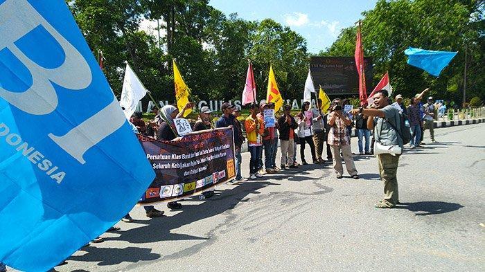 Peringati Hari Buruh, Front Perjuangan Rakyat Gelar Aksi di Pontianak, Upaya Perbaiki Nasib Buruh