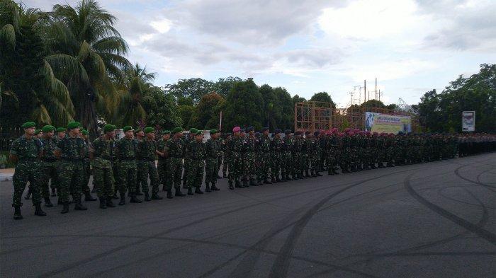 Ratusan Personel Polri dan TNI Laksanakan Apel Gelar Pasukan Operasi Ketupat Kapuas 2019