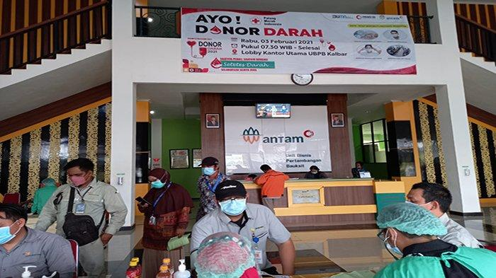 Peringati Bulan K3, PT Antam Gandeng PMI Gelar Donor Darah Sukarela