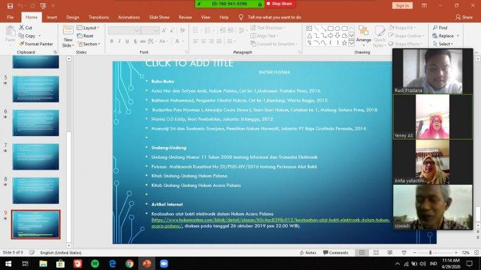 Laksanakan Seminar Secara Daring, Mahasiswa UPB Rudi Pradana Senang Sekaligus Khawatir