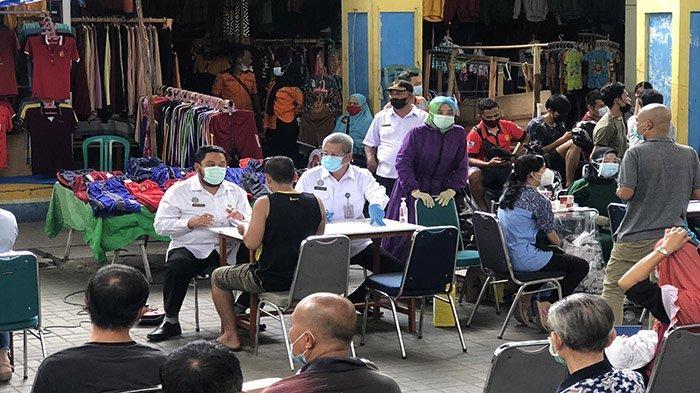 Setelah Vaksinasi di Pasar Tengah, Vaksinasi Sasar Pedagang Pasar Tradisional Lainnya di Pontianak