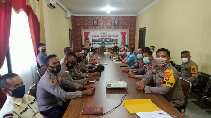 Kapolres Pimpin Rakor Lintas Sektoral Terkait Penanganan dan Penertiban PETI di Kabupaten Sanggau