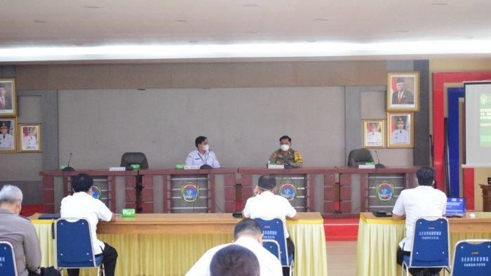 Rapat Evaluasi Satgas Covid-19 Kabupaten Sekadau, Kapolres: Ini Semua Membutuhkan Kepedulian Bersama