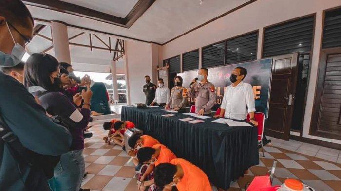 Gelar Press Release, Polres Kubu Raya Ungkap 3 Kasus Narkoba, Curat dan Kasus Sodomi