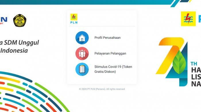 PLN Token Gratis Stimulus Covid-19 Login di Www.pln.co.id, Stimulus.pln.co.id, Www.layanan.pln.co.id
